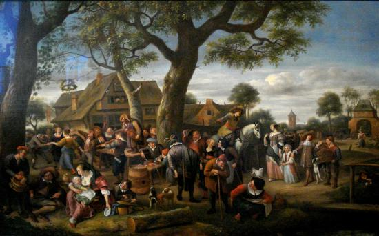 Jan Steen, 'Dorpsfeest te Warmond', ca. 1660.
