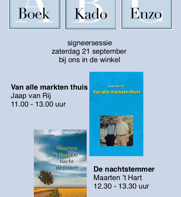 Signeersessie Jaap van Rij