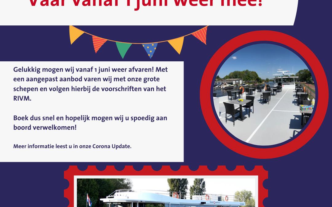 Rederij Van Hulst vaart weer vanaf 1 juni!